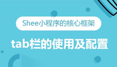 第十一节:tab栏的使用及配置-Shee小程序的核心框架_微信开发