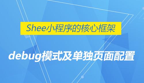 第十二节:debug模式及单独页面配置-Shee小程序的核心框架_微信开发